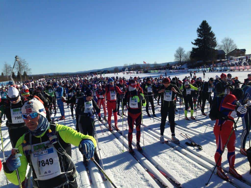 Group 13-in the Birkebeiner. Some of the best representatives of the average hobbyist cross country skier.