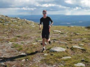 Snart på toppen. Sveinar Lunde Soldal fra Kongsberg forbereder seg til skisesong. Foto: Magne Hasli.