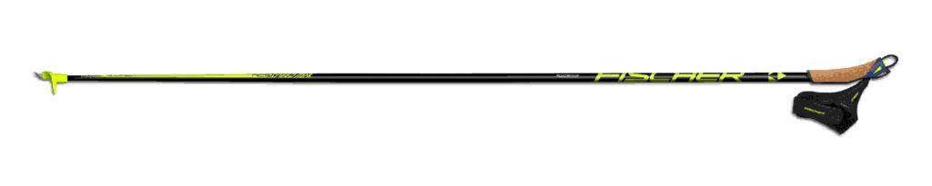 "Fischers nye stav med ""Air Carbon UHM""; Ultra High Modulus, en benevnelse på kvaliteten på karbonet i staven. For denne staven er kvalitetsgraden 5,4 og det er den beste, letteste og sterkeste karbonstaven til Fischer."