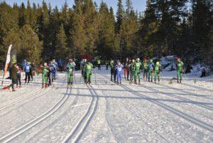 Studentklassen klare for 40 flotte km i Bymarka! (2015)
