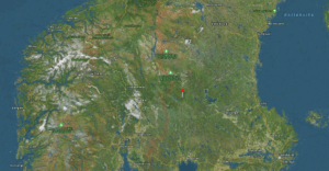Lima in Sweden is straight east of Lillehammer and Hamar.