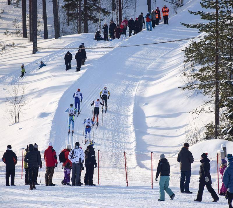 Også Sixten Jernberg Memorial Race har sin Mördarbakke. Foto: arrangøren.