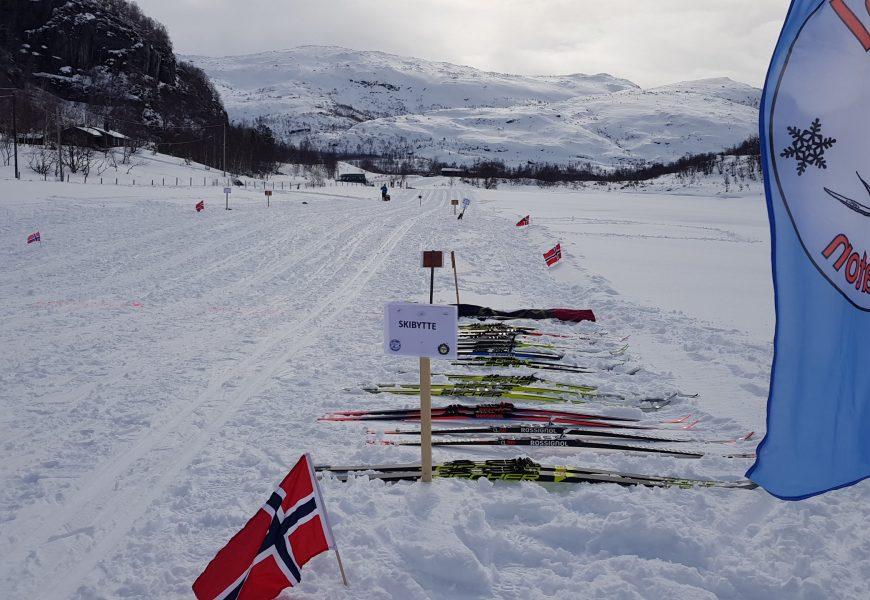 Sirdal Skimaraton (2019) – eneste turrenn med skibytte (?) gjennomført